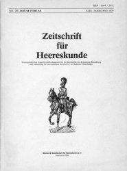 Журнал Zeitschrift fur Heereskunde №290/291