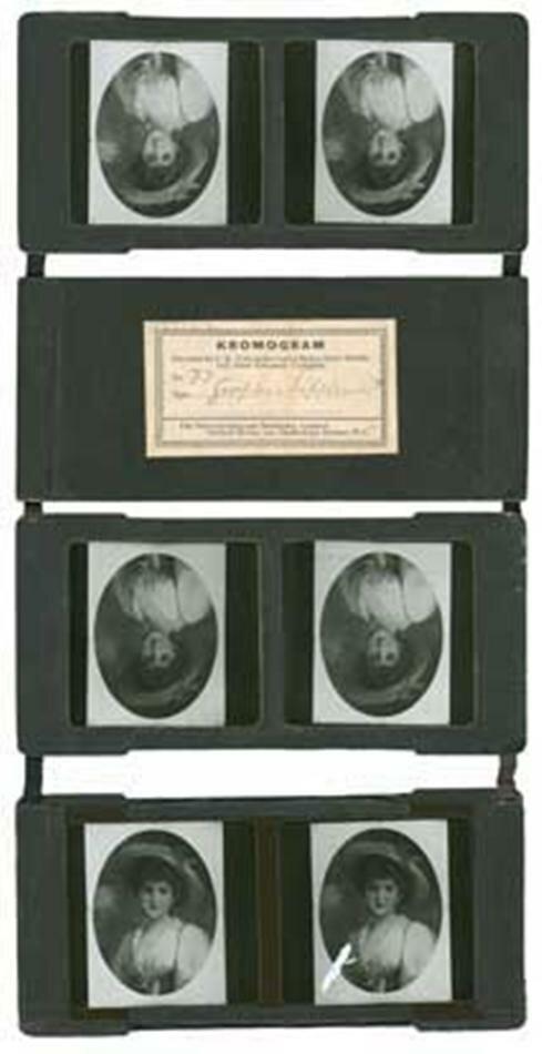 1895  Kromskop Viewer Set, Kromogram, Portrait of a Lady With Hat.jpg