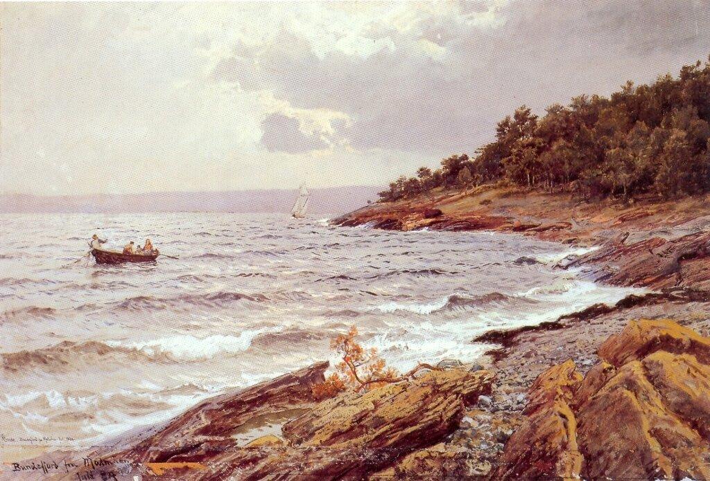 Hans Gude--Bunnefjorden Fra Malmoya--1884..jpg