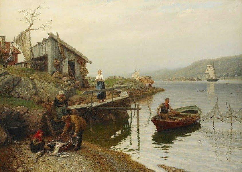 Hans_Gude_1825_1903_._Fiskarfamilj_vittjar_f_ngsten_1877.jpg