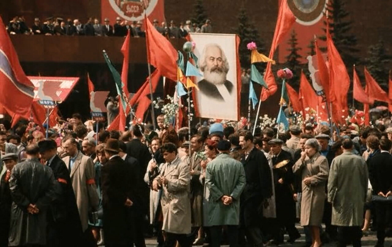 Москва. На первомайской демонстрации