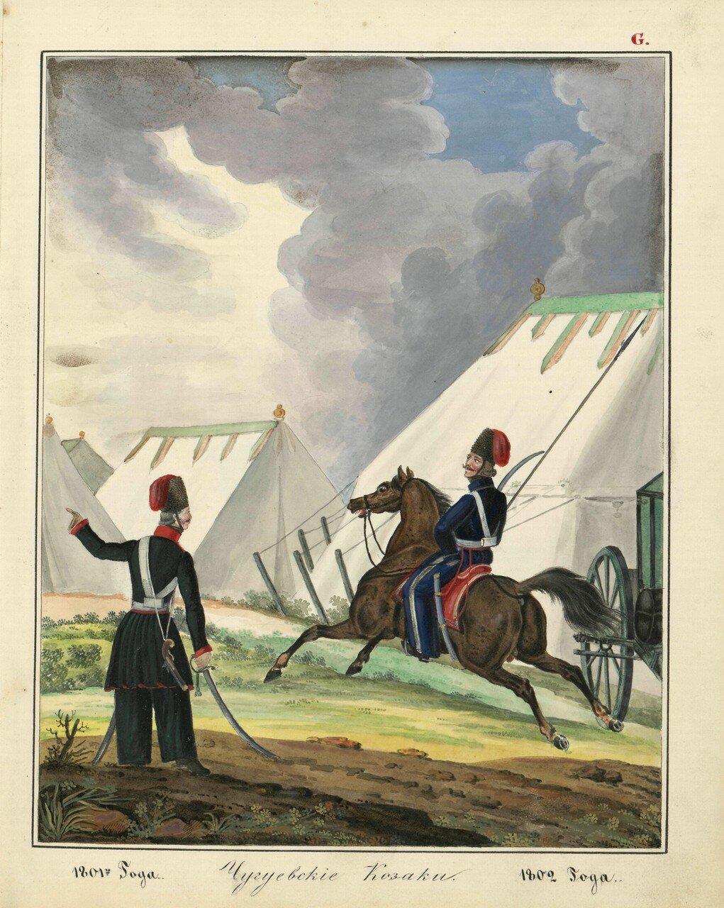 Чугуевские казаки 1801-1802 гг.