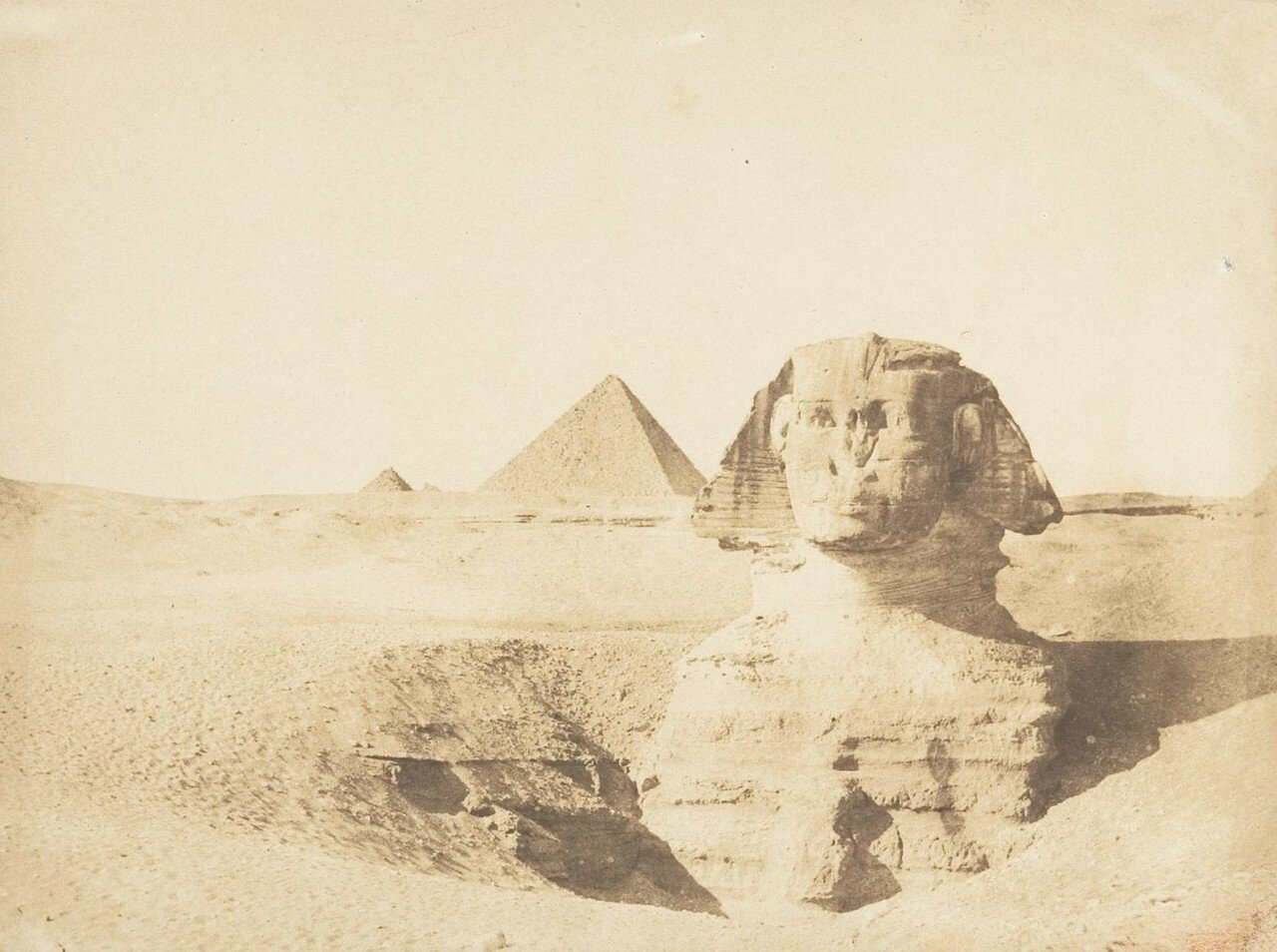 Гиза. Сфинкс.1849