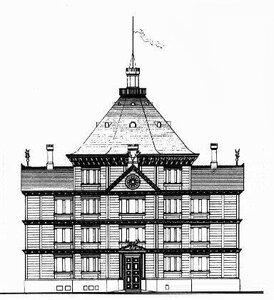Охотничий домик, архитектор Карл Фридрих Шинкель, фасад