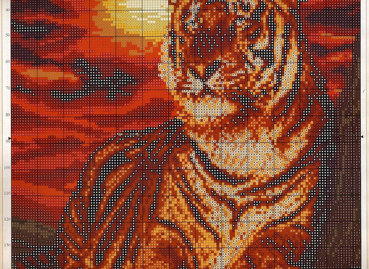 бабочка картинки крестиком тигры можно