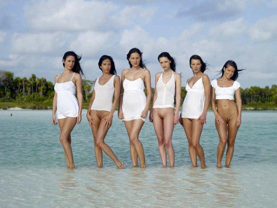 Пляж юбка без трусов
