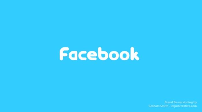 логотип Facebook выглядит как Twitter - бренды которые поменяли местами
