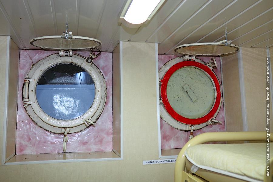 аварийно-спасательный иллюминатор на нижней палубе