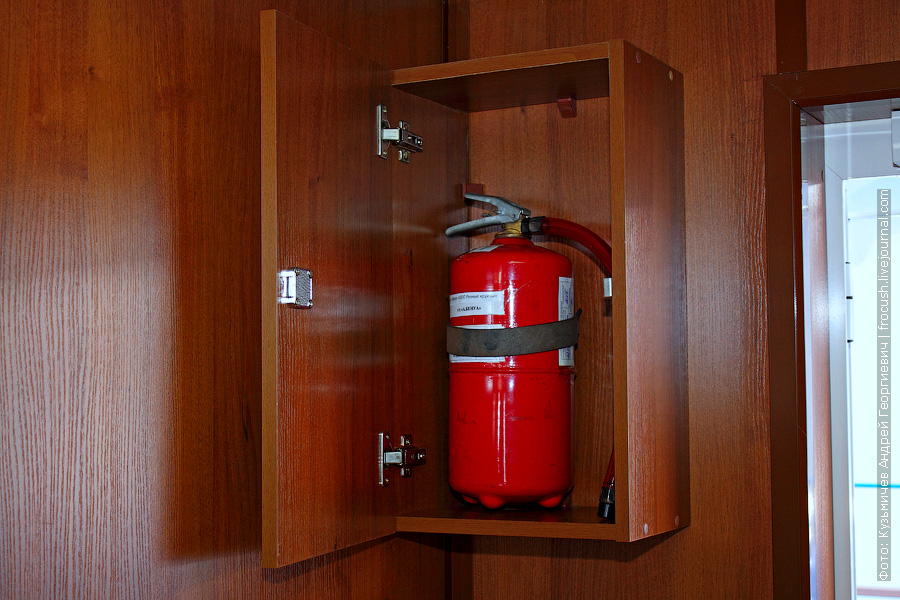 огнетушитель на теплоходе
