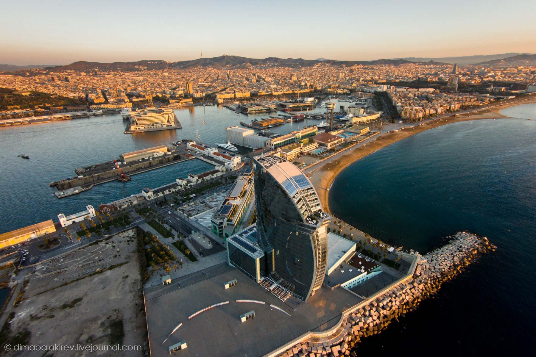 Рассвет в Барселоне