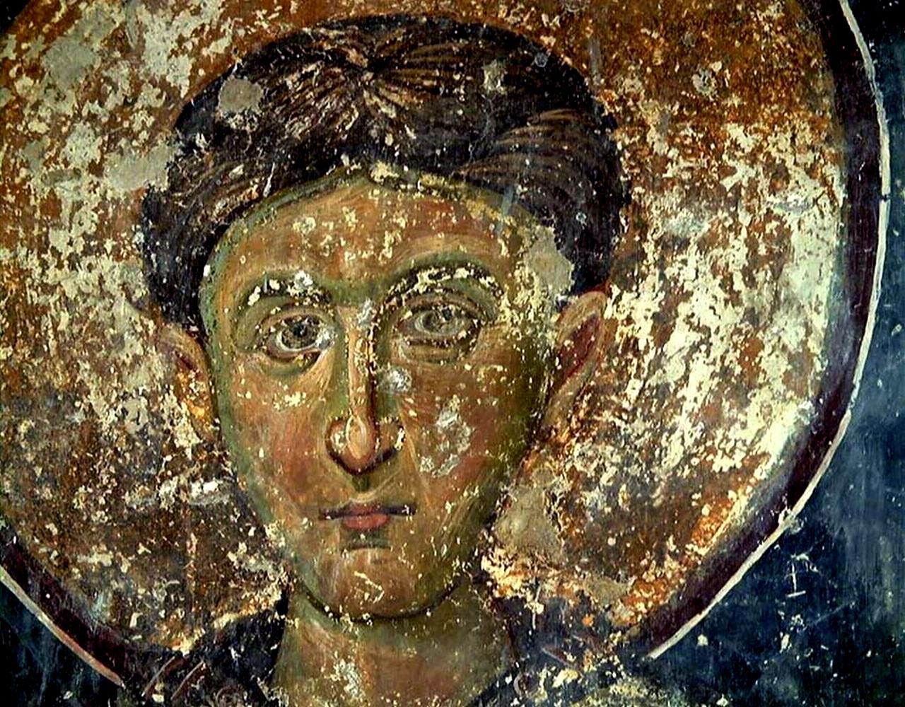 Лик Святого. Фреска монастыря Милешева (Милешево), Сербия. До 1228 года.