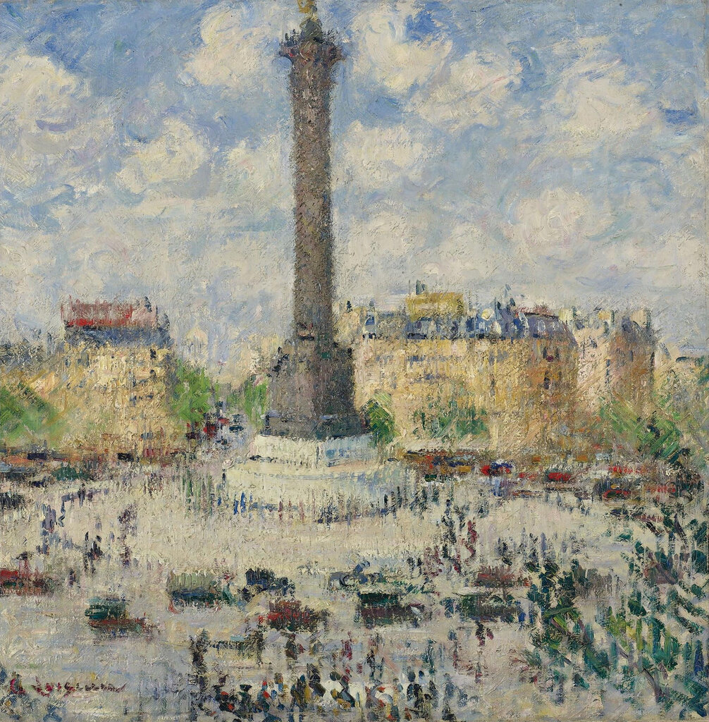 Gustave Loiseau - The Square of Bastille, 1927.jpeg