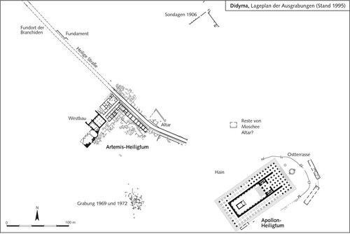 Генплан раскопок античного города Дидима