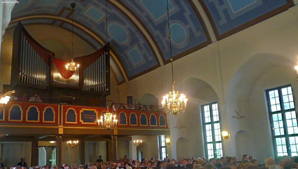 Торжественная месса в лютеранской церкви.