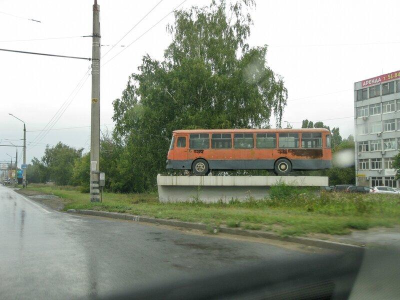 Автобус на постаменте, Тольятти