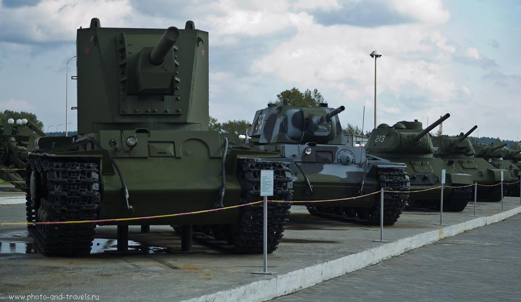 29. Танки в музее военной техники под открытым небом
