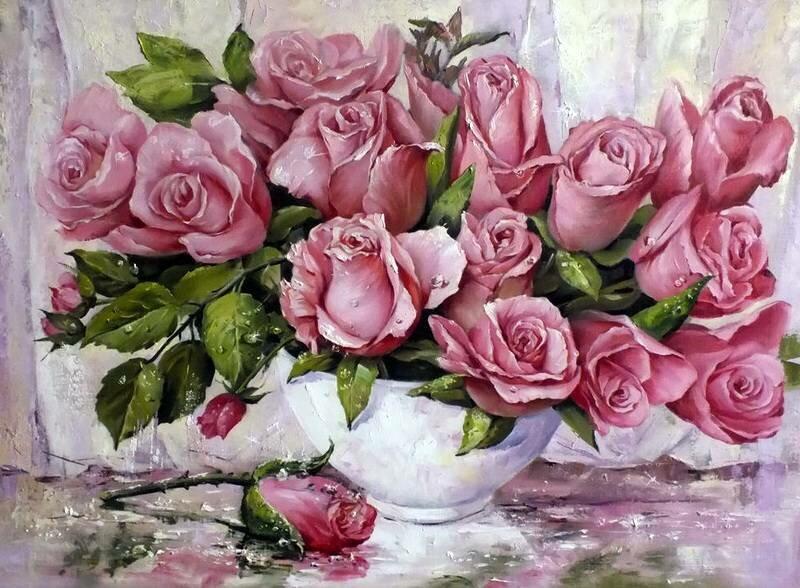 Букет роз Татьяны Кулигиной