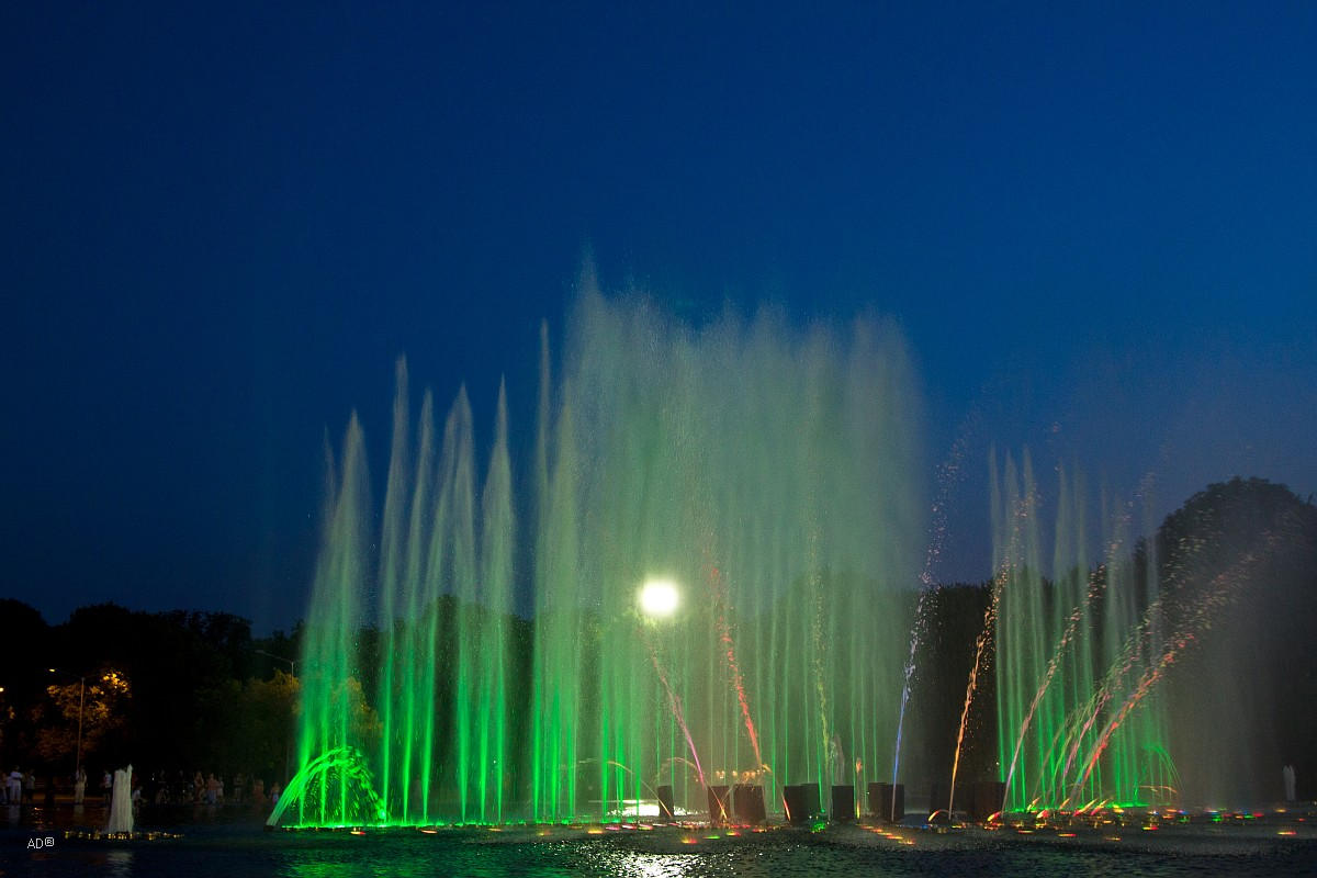 Цветомузыкальный фонтан в Парке Горького