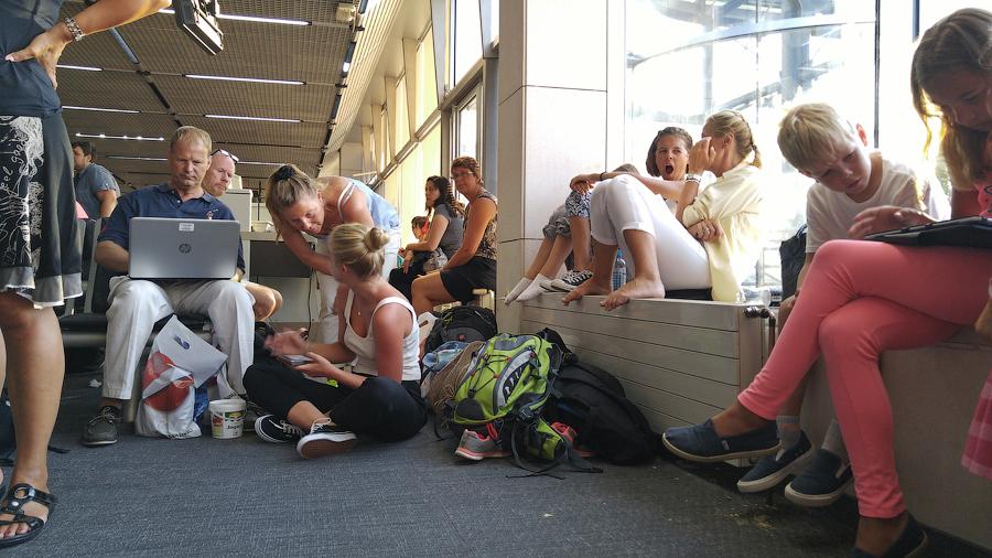 Задница в аэропорту