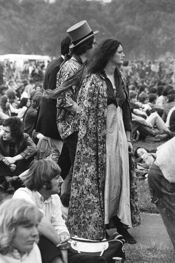 Hippies.Hyde Park Pop Concert.1971
