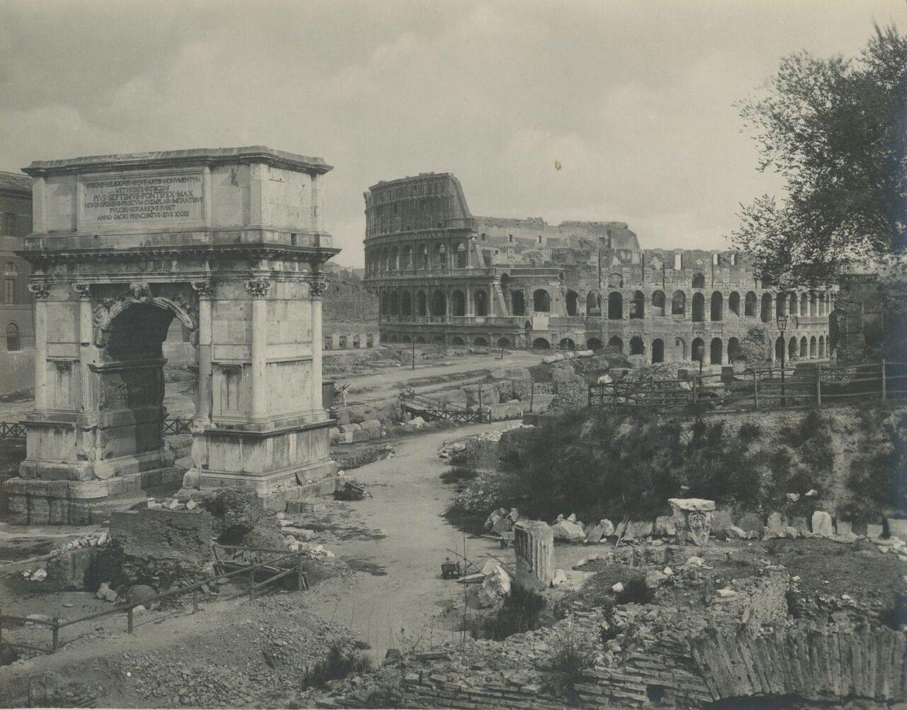 Триумфальная арка Тита и Коллизей