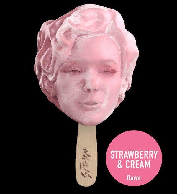 Мороженое в стиле POP-ART. Оближи и съешь своего героя!