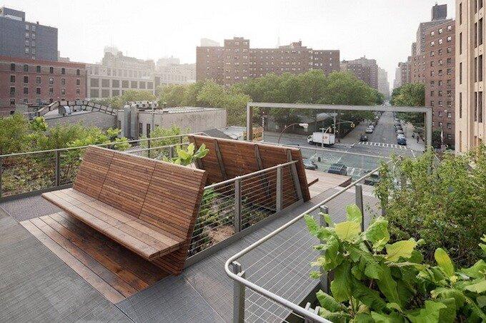 Парк HighLine в Нью-Йорке. Садово-парковая линия метрополитена.