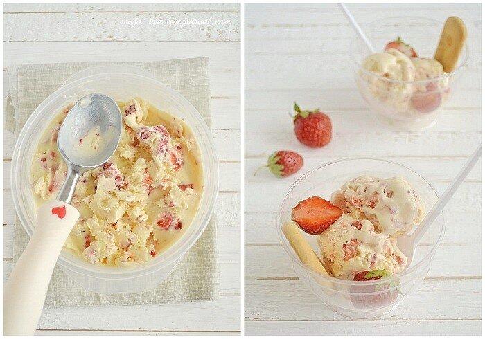 клубничное мороженое из маскарпоне