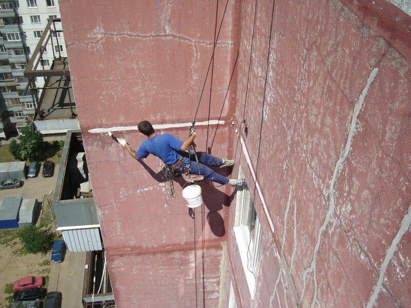 Герметизация швов промышленный альпинизм