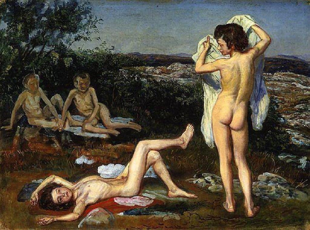 Четыре обнажённых мальчика. 1824 г. Иванов А.А. (1806-1858)
