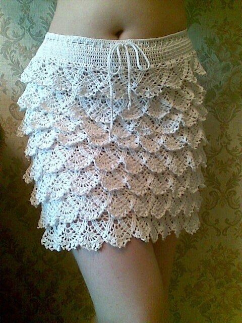 Вязание крючком юбка из воланов
