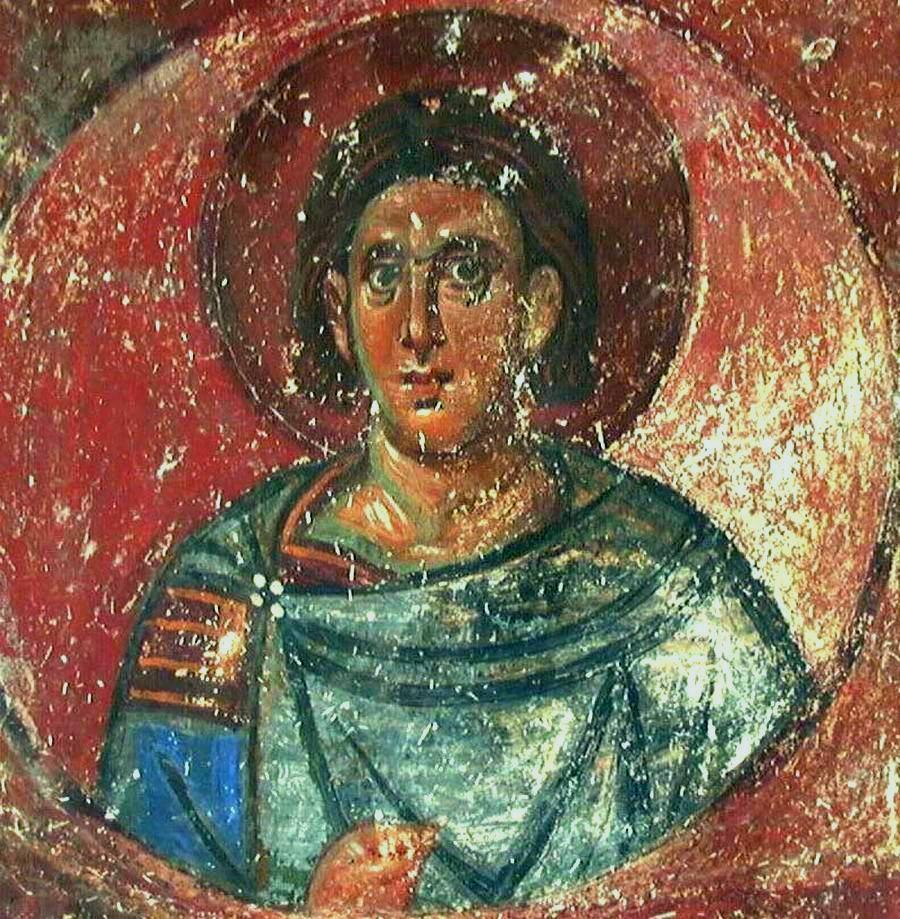 Святой мученик Лавр Иллирийский (?). Фреска монастыря Милешева (Милешево), Сербия. До 1228 года.