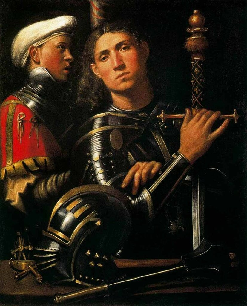 «Портрет воина с его слугой»