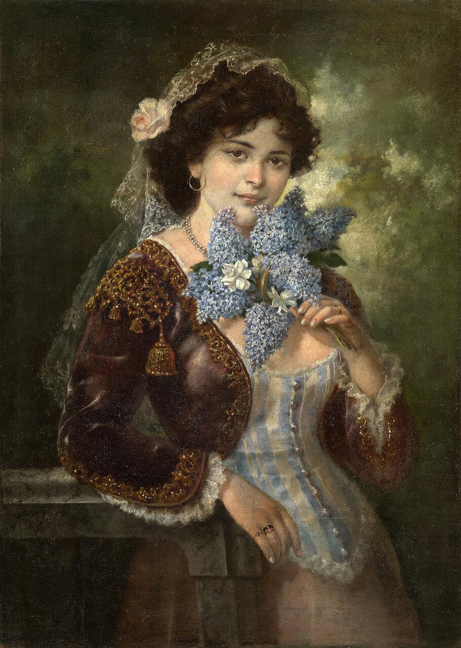 TRANKOVSKY, ALEXEY (19TH-20TH CENTURY)  Beauty with Lilacs.jpg