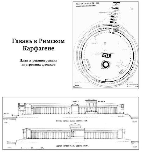 Гавань в Карфагене времен Римской империи, чертежи