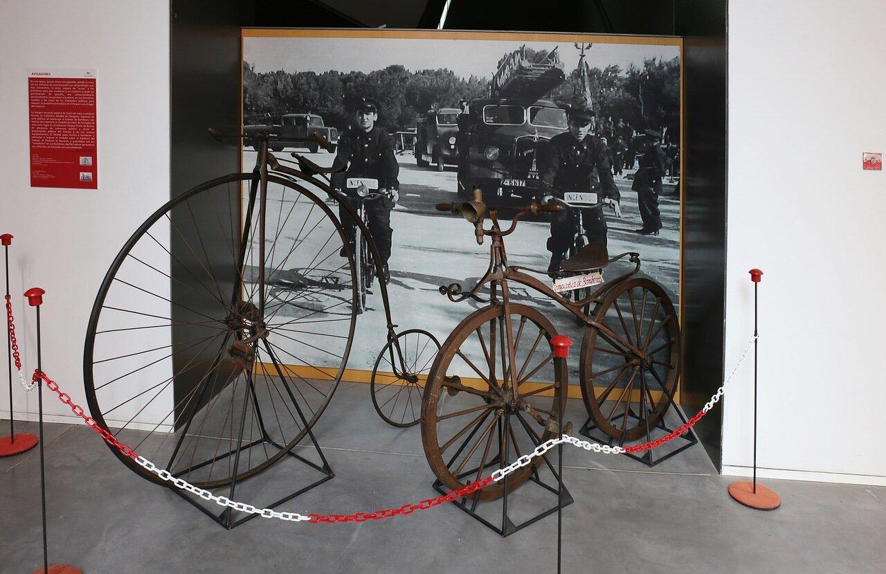 Музей пожарного дела в Сарагосе. Велосипеды