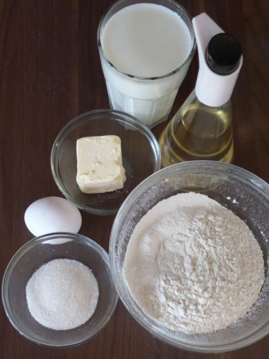 Блинчики с начинкой из сыра и ветчины