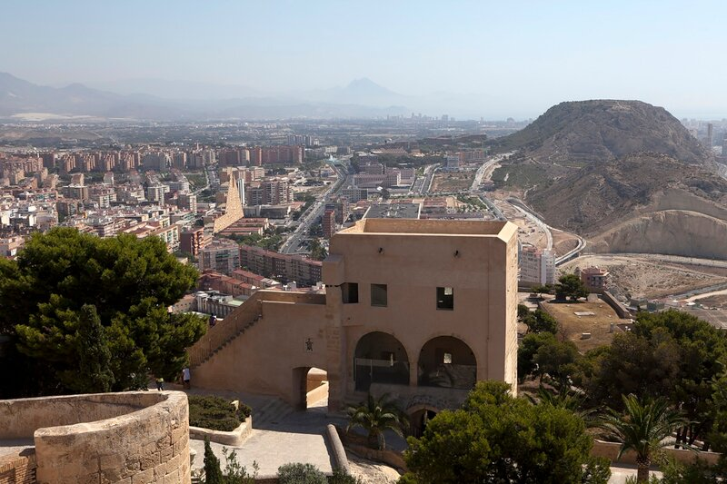 view from castle in Alicante. Spain