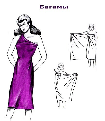 Платья из простыни своими руками