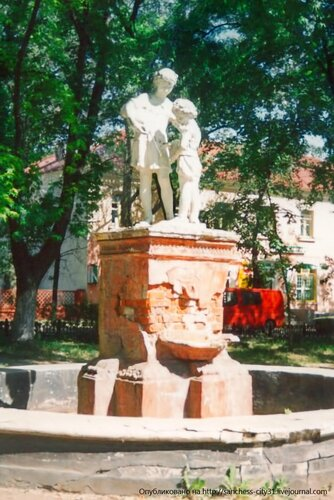 "Фонтан на ""Малой Богданке"", снесён в конце 1990-х. Фото А.Ткаченко"