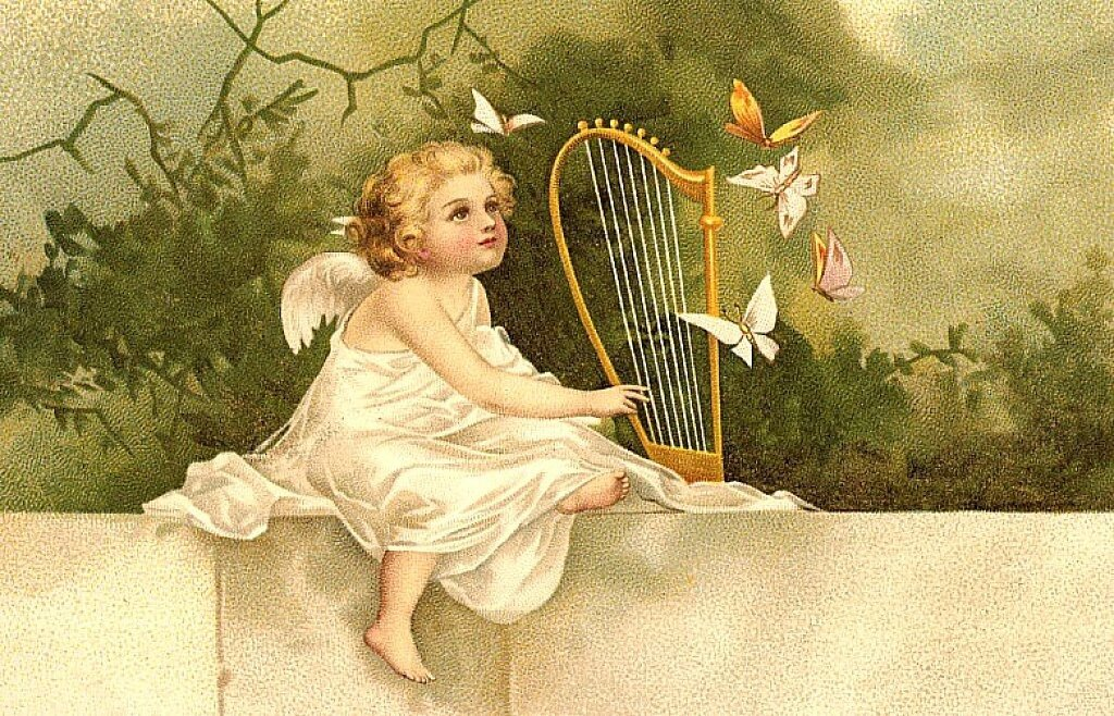 Поклон благодарностью, старинные музыкальные открытки