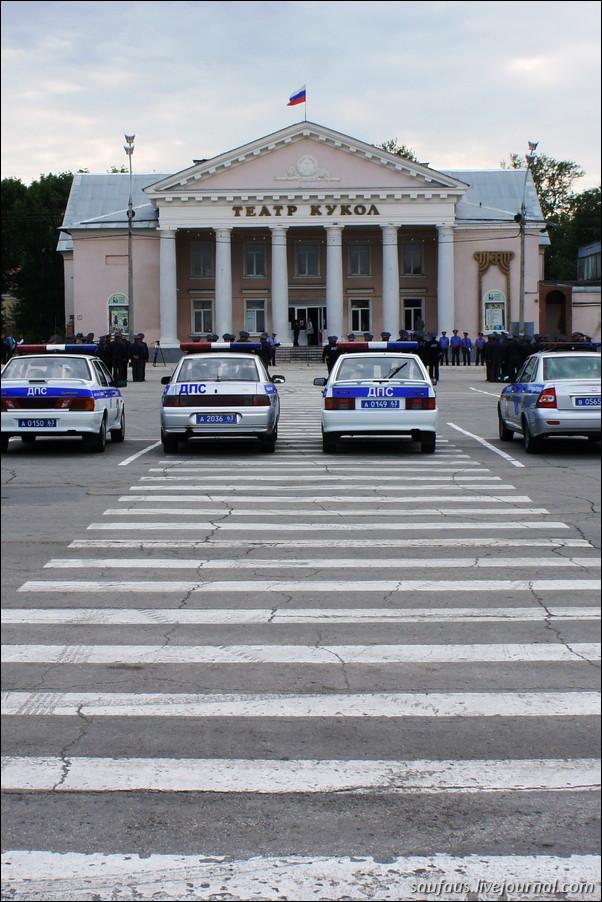 Строевой смотр полиции
