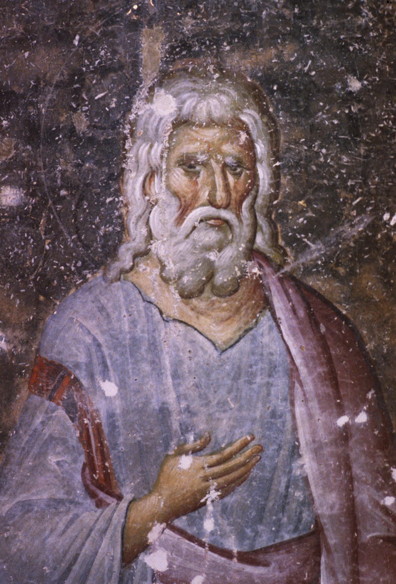 Святой Праотец.Фреска церкви Святой Троицы в монастыре Сопочаны, Сербия. XIII век.