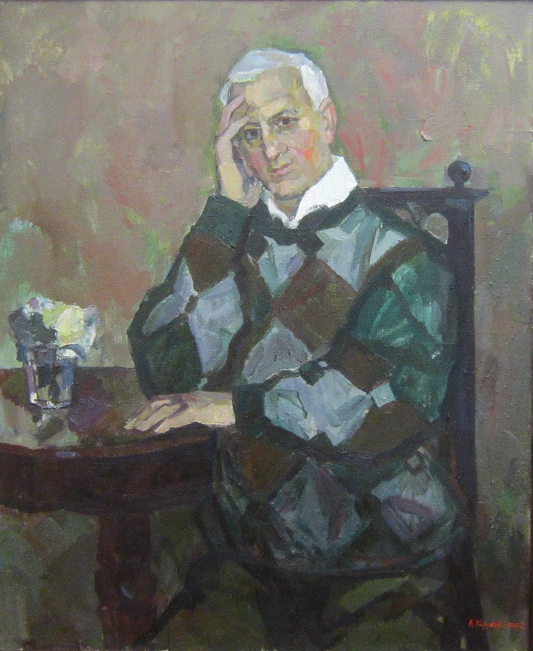 Виталий Фёдорович Коробов (род. в 1937 году). Автопортрет. 2002 год.