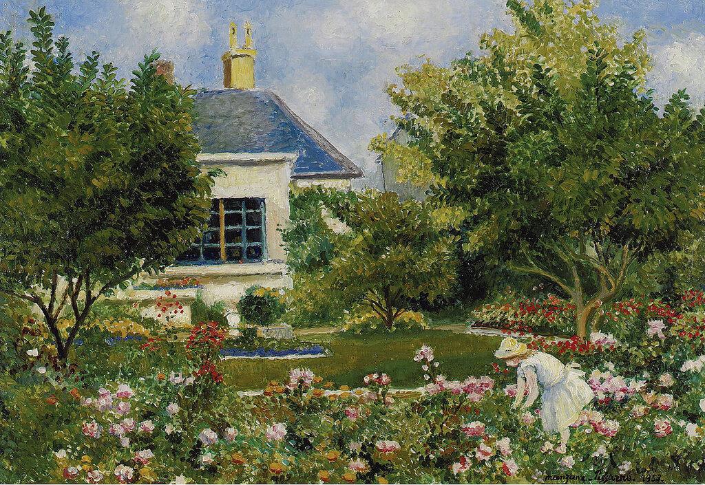 Georges Manzana-Pissarro - In the Garden, 1953.jpeg