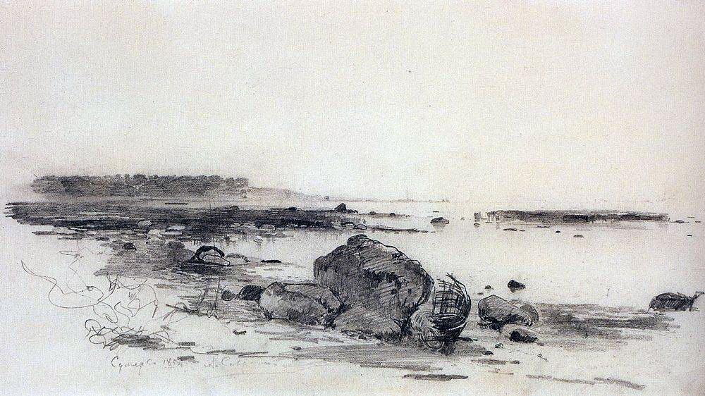 Берег моря. Сумерки. 1854.jpg