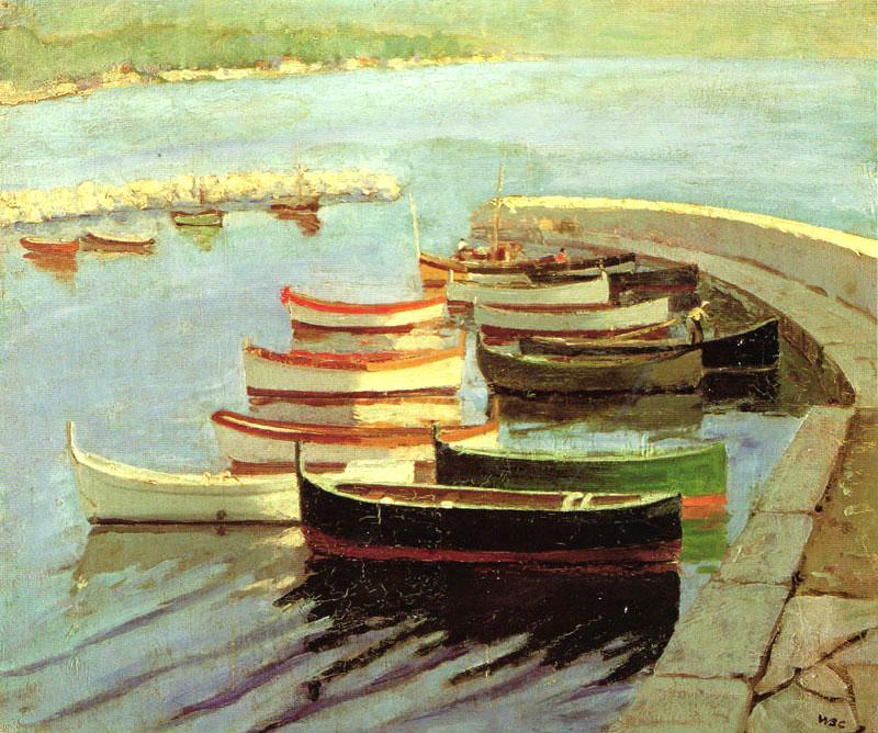 + 1933 Гребные лодки на набережной.jpg