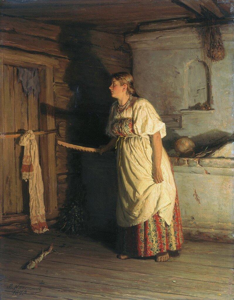 0596.Maksimov.Vasiliiy.Kto.tam.1879.holst.maslo.jpg