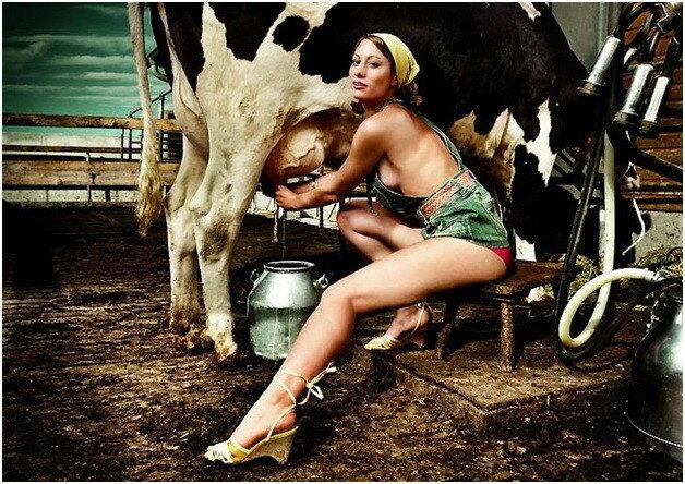 Календарь: Молодые фермерские девушки 2010