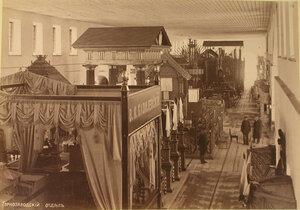 Вид части одного из залов горнозаводского отдела выставки.